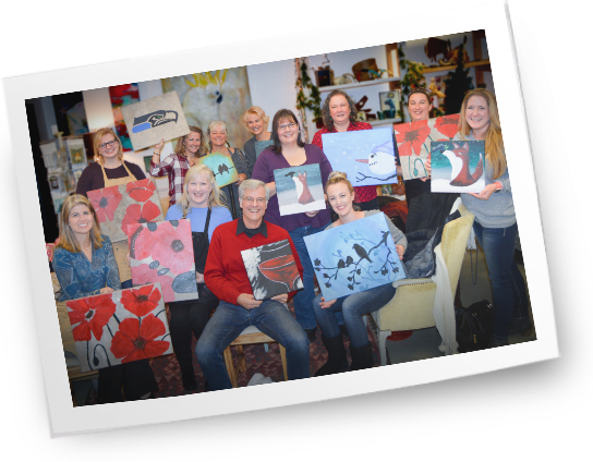 EdGate Staff Painting Party
